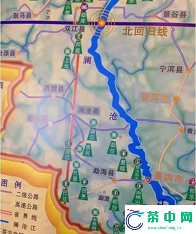 【入门干货】最全云南普洱茶山头分布地图及茶性特点